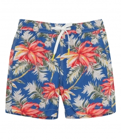 CLOTHES - KIDS HIBISCUS PRINTS ACHILLE SWIM SHORTS