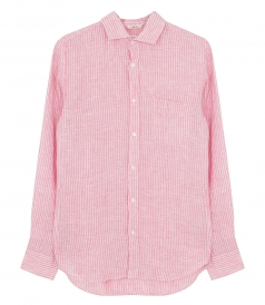 JUST IN - STORM LINEN OXFORD STRIPES SHIRT