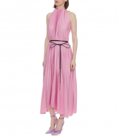 THE GREAT HALTER PLEATED DRESS