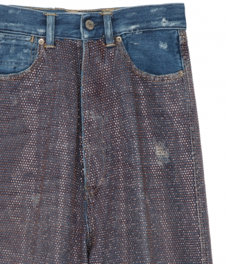 BREEZY JEANS WITH ALL-OVER RHINESTONES
