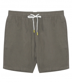 CLOTHES - LINEN SWIM SHORTS LONG-LENGTH