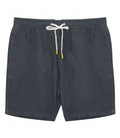 LINEN SWIM SHORTS LONG-LENGTH