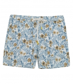 JUST IN - HIBISCUS PRINTED BOXER SWIMWEAR