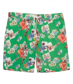 CLOTHES - HAWAIIAN POSTCARD SWIM SHORTS