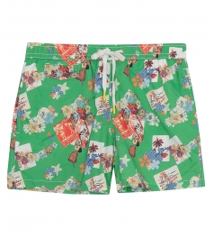 CLOTHES - HAWAIIAN POSTCARD BOXER SWIMWEAR