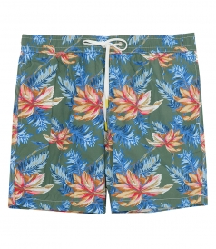 CLOTHES - HIBISCUS PRINTS SWIM SHORTS