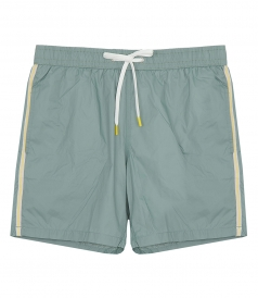 LIGHTWEIGHT STRIPE SOLID SWIM SHORTS