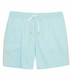 SEERSUCKER STRIPED SWIM SHORTS