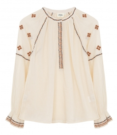CLOTHES - HOTEL ETHNIC EMBROIDERED BLOUSE