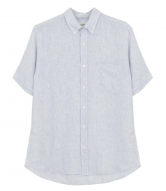 SALES - SIDE MC SLIM FIT LINEN SHIRT