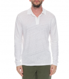 LINEN LONG SLEEVE POLO