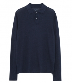 HARTFORD - LINEN LONG SLEEVE POLO