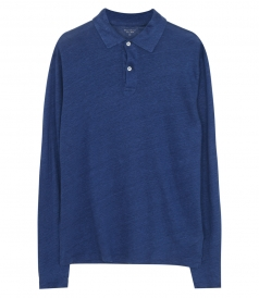 CLOTHES - LINEN LONG SLEEVE POLO