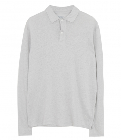 SALES - LINEN LONG SLEEVE POLO