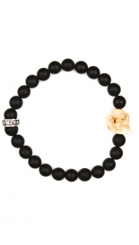 ACCESSORIES - BRACELET WITH CARVED BONE SKULL