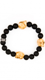 ACCESSORIES - BRACELET WITH 3 BONE SKULLS