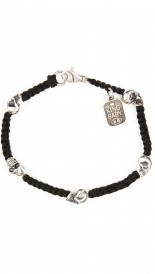ACCESSORIES - BLACK MACRAME BRACELET WITH SKULLS