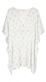 CLOTHES - FAN PRINT PONCHO
