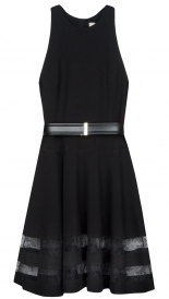 SALES - PONTE FLOUNCE DRESS