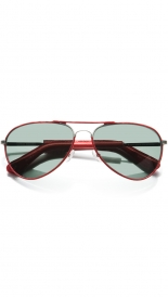 RED LEATHER AVIATOR