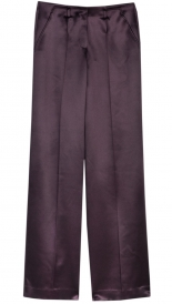 SALES - SATIN FINISH WOOL WIDE LEG TROUSER