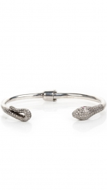 ACCESSORIES - PAVE DIAMOND SNAKE BANGLE