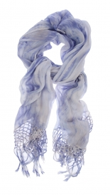SCARVES - THREE COLOR MIX FRINGE