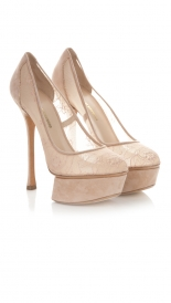 SALES - FELIX LACE PLATFORM PUMP