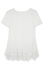 CLOTHES - COTTON NET DOUBLE LAYER TOP