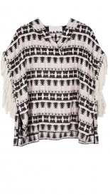 KNITWEAR - TRIBE TWEED FRINGE PULLOVER