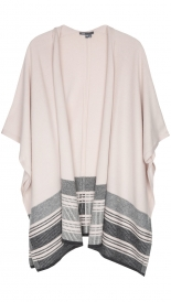 GRAPHIC STRIPE PONCHO
