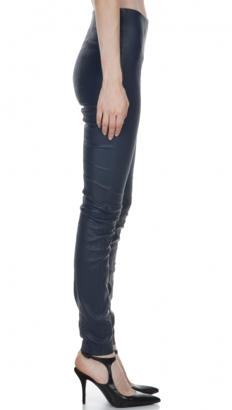 STRETCH LEATHER LEGGINGS