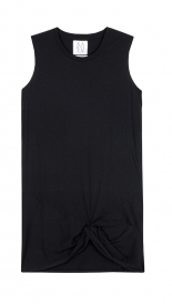MUSCLE TANK DRESS WITH KNOT DETAIL