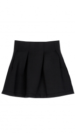 A LINE SHORT BONDED SKIRT