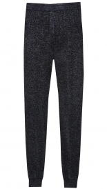 RELAXED FIT KNITTED LUREX PANTS