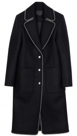 COAT WITH NOTCHED