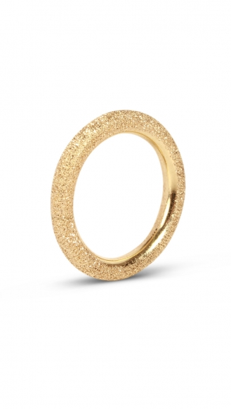 CAROLINA BUCCI - GOLD SPARKLY THICK RING