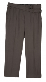 CLOTHES - SLIM CROPPED PANT WITH UTILITY STRAP