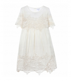 CLOTHES - DRESS WITH LACE DETAILS