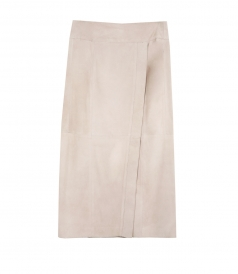 NUBUCK WRAP SKIRT