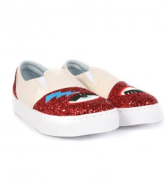 SLIP ON WHITE ROSE