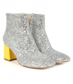 BOOTS - BOOT GLITTER SILVER