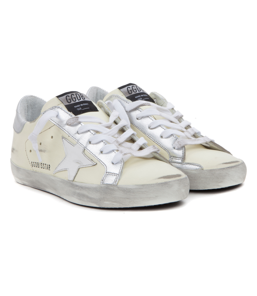 472b0df385a79 GOLDEN GOOSE DELUXE BRAND - SUPERSTAR SNEAKERS IN WHITE GREY