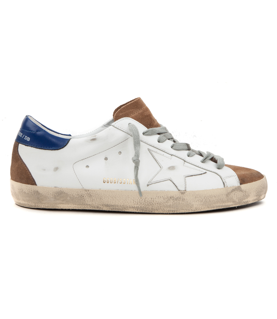 4a845522caae3 GOLDEN GOOSE DELUXE BRAND - SUPERSTAR SNEAKERS IN BLUE SUEDE