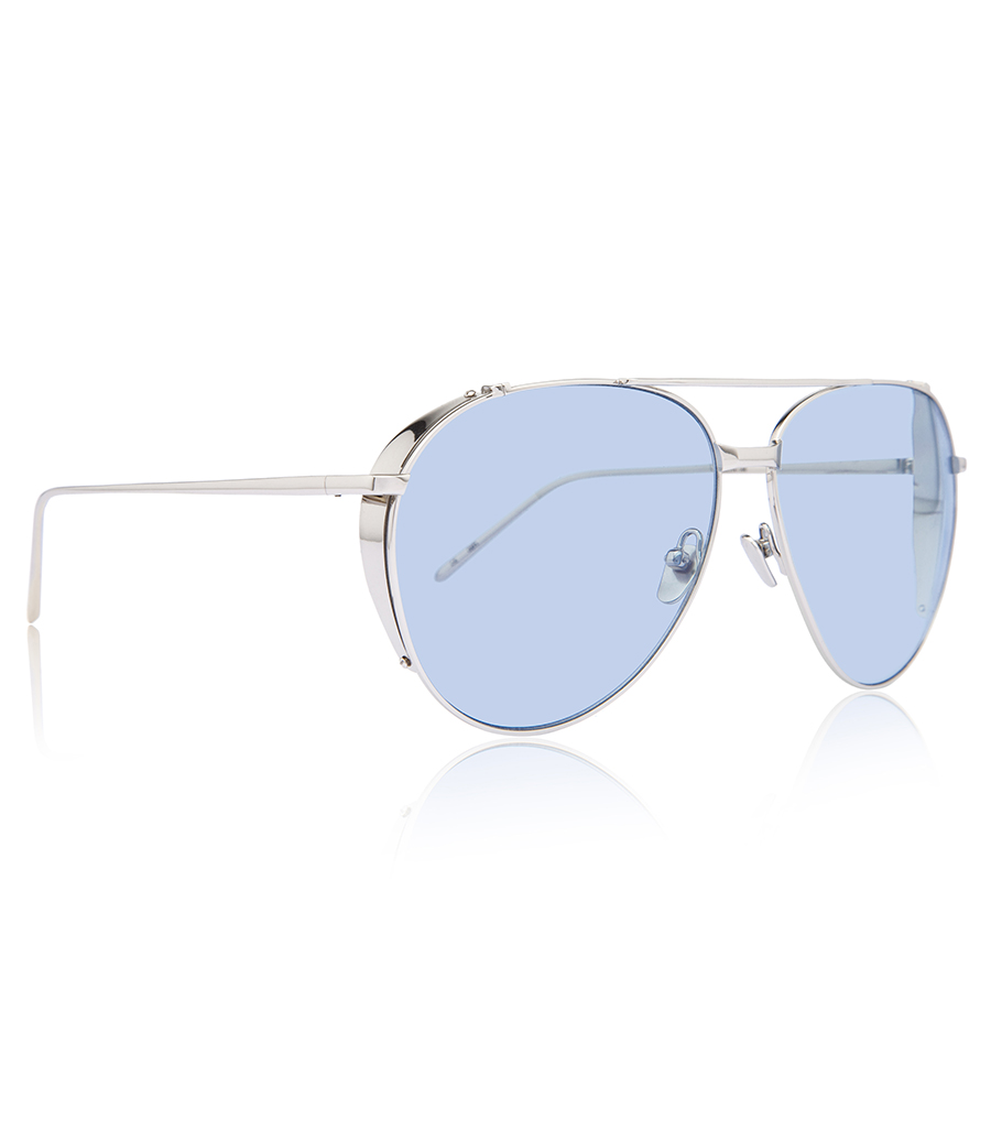 ef5568a6b40e LINDA FARROW 425 C14 AVIATOR SUNGLASSES - SUNGLASSES