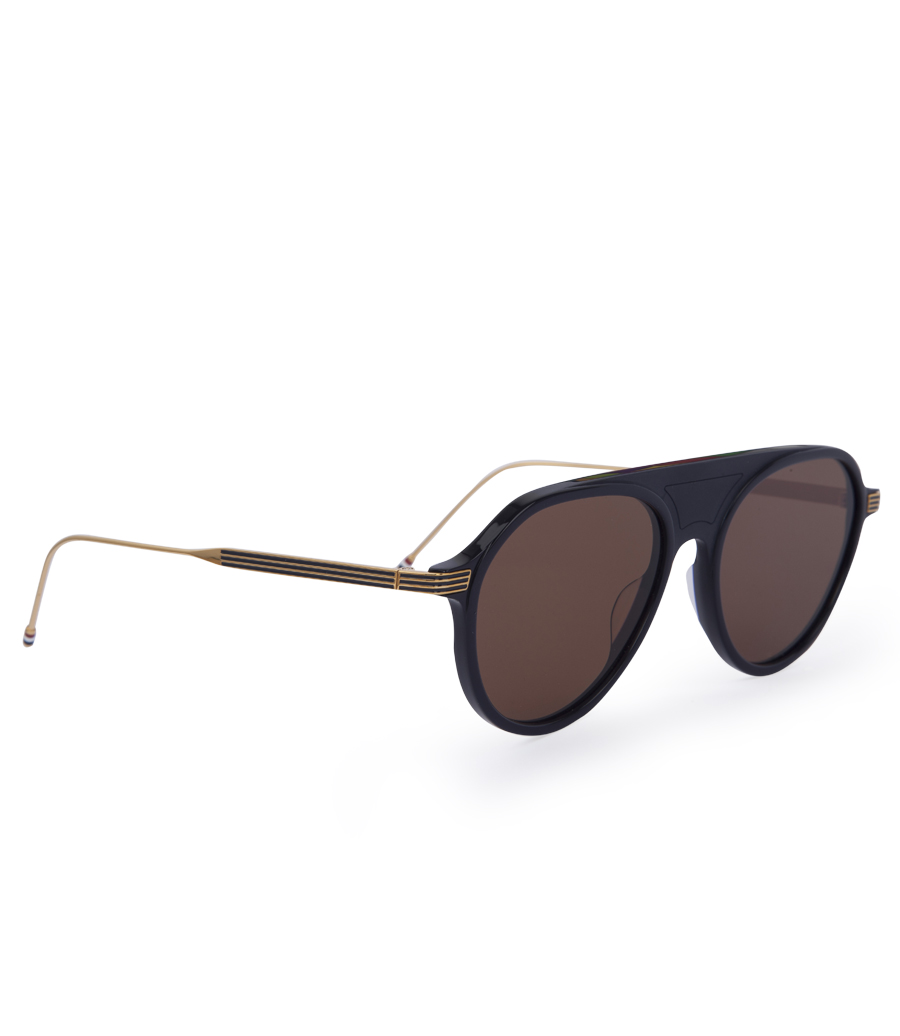 0913e1c4815 NAVY   GOLD SUNGLASSES WITH DARK BROWN LENS - SUNGLASSES    Soho Soho