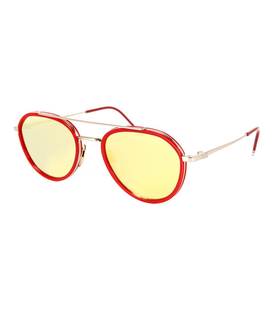 983ad26f0e5 Thom Browne Tb 807 A Matte Black And 12k Gold Gles Pretavoir -  Source. Thom  Browne Sungles Gold Red