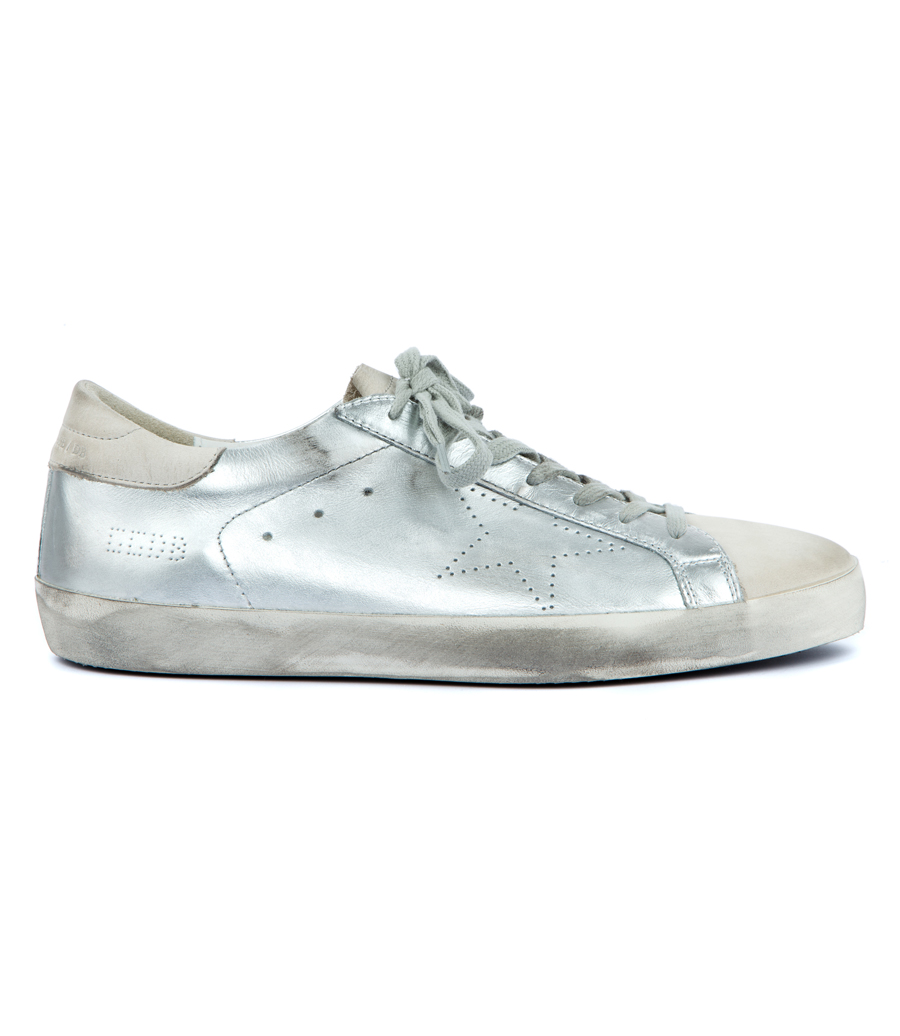 f2675d49d5ff0 GOLDEN GOOSE DELUXE BRAND - SUPERSTAR SNEAKERS IN SILVER
