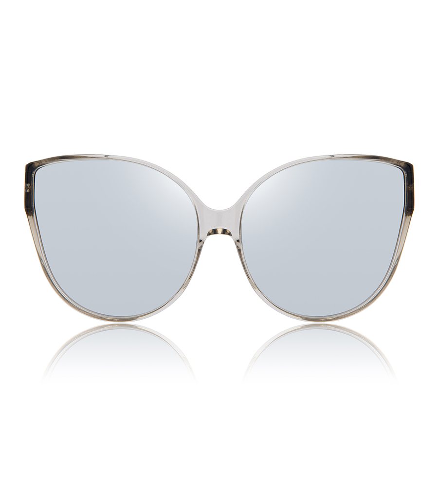 e939cc8caffb LINDA FARROW - OVERSIZED CAT-EYE TRANSPARENT SUNGLASSES