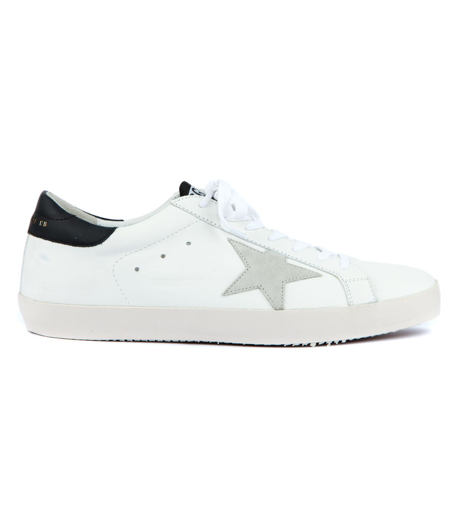 ffa06da805e73 GOLDEN GOOSE DELUXE BRAND - SUPERSTAR SNEAKERS FT BLACK CONTRASTING HEEL TAB